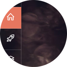 Transparent Vertical Menu with Icons